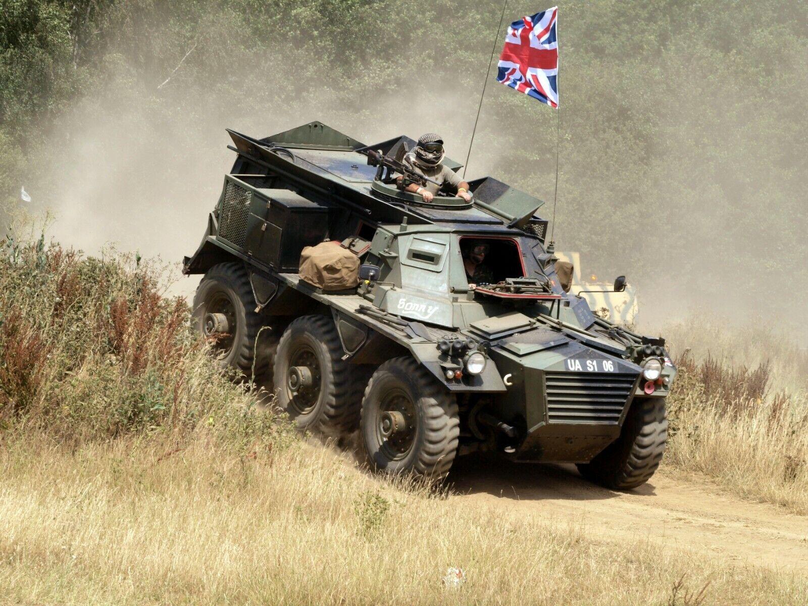 BRITISH ARMY ALVIS SARACEN    Military Photo Print