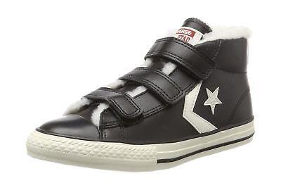 Converse Kids Star Player EV 3V Mid Hi-Top Trainers Children Shoes 658152C Black