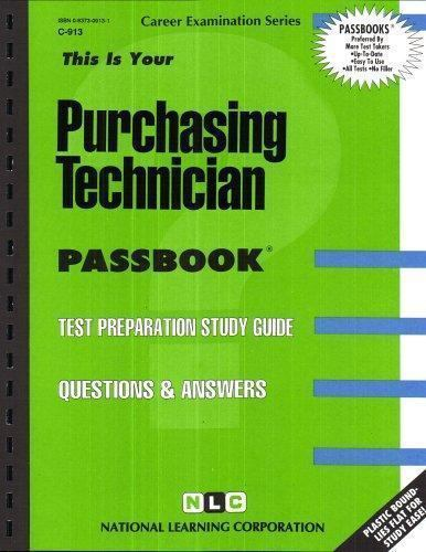 National Learning Corporation-Purchasing Technician BOOK NEW