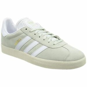 Details about Adidas Originals Gazelle BZ0023 men's leather suede trainers linen green white