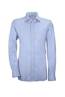 Sonstige Shirts & Hemden 41/42 L Neu Geschickte Herstellung Greiff Herren Hemd Service Premium Slim Fit 6638 Blau Gr