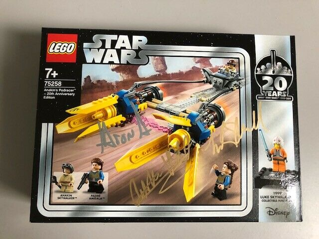LEGO 75258 Star Wars - 20th Anniversary Ed. Anakin's Podracer - MISB - Signed