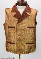 Steampunk Vest Victorian Gentleman's Gold & Burgundy Iridescent Brocade Vest
