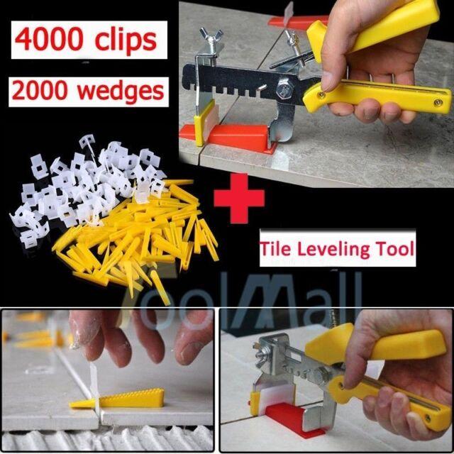 600 Tile Leveling System Kit 200 Wedges 400 Clips Plier Tiling