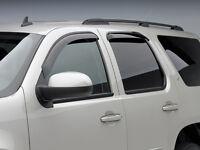 Audi Q7 Side Window Deflector - Dark Smoke - Four (4) Piece Set - 2009-2014 Egr