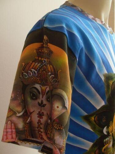 Ganesha Ganesh Blue Radiant Halo T Shirt OM Hindu India Hinduism M L XL G03f
