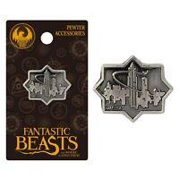 Harry Potter Macusa City Pewter Lapel Pin Fantastic Beasts Charm Nip