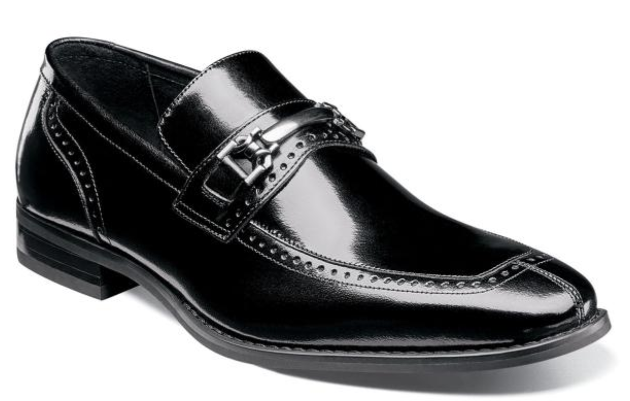 Stacy Adams shoes Tanner Moc Toe Bit Slip On Black 25195-001