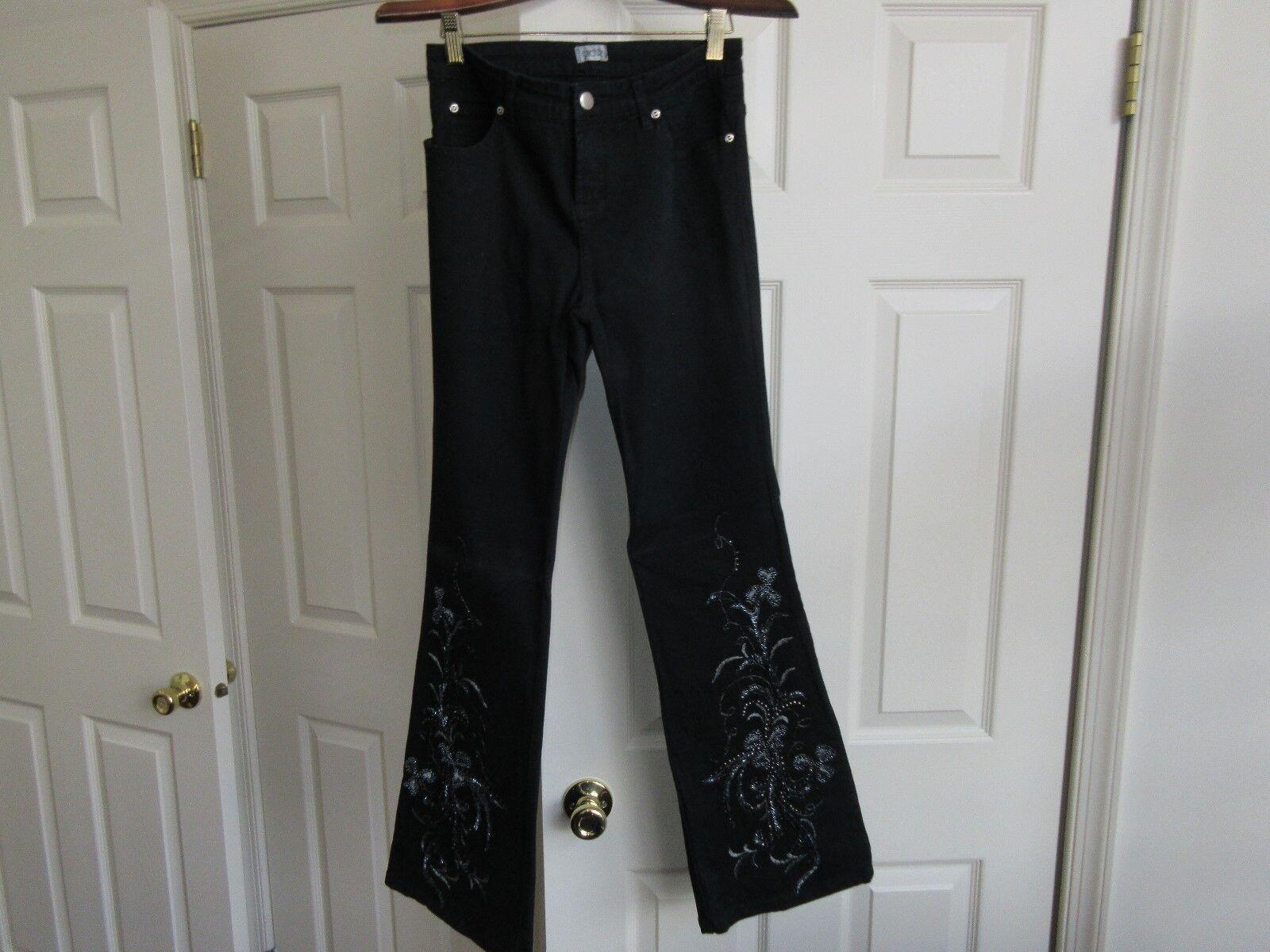 """Cache , Ladies Jeans , Black ,Vintage ,Size 28"""" Measure"""