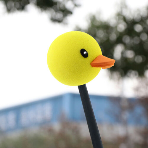 1pc Cute Yellow Duck Car Antenna Pen Topper Aerial Ball Decoration Gift Toy Hot