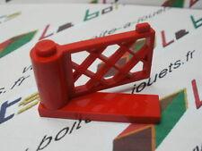 lego porte Barrière croisillon 1x4x2 avec base  ref: 3186 & 3187 rouge / red