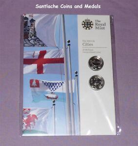 2010 ROYAL MINT SPECIMEN CITY OF BELFAST & LONDON £1 COIN PACK - Mint Sealed