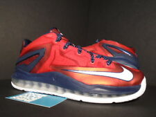 2014 Nike Air Max LEBRON XI 11 Low INDEPENDENCE DAY RED WHITE OBSIDIAN BLUE  8.5 d7146b25a