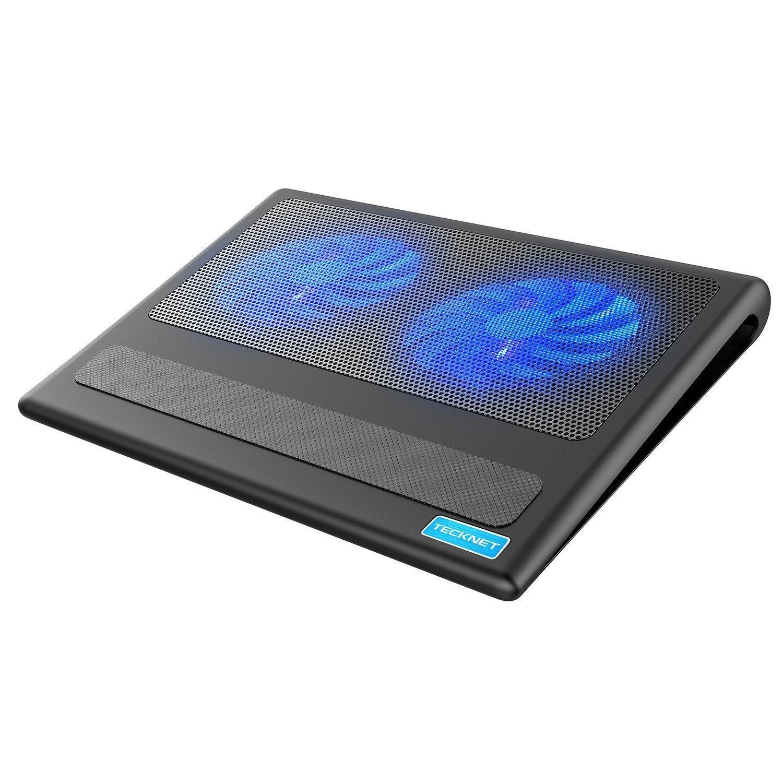 Silent Laptop Notebook Cooling Pad 2 Fan Desk Cooler Stand Rack Usb Gaming Leds