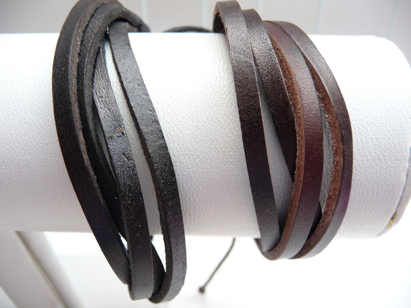 Men's / Boys Leather Wristband set