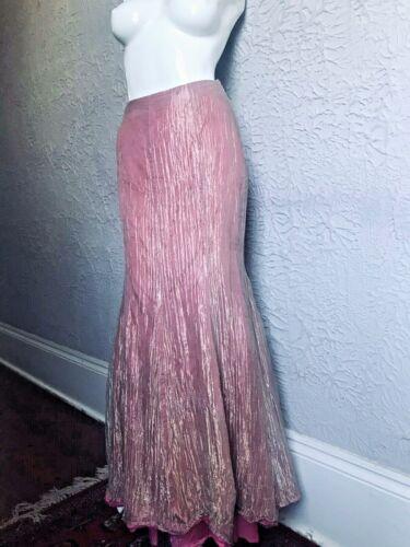 90's Vintage Pink Silk Metallic Designer Mermaid … - image 1