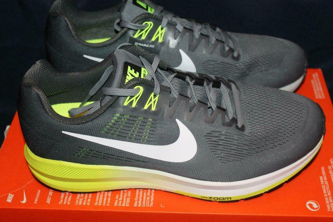 NEW NIKE MENS AIR ZOOM STRUCTURE 21 904697-007 GREY WHITE EXTRA WIDE 4E SIZE 11