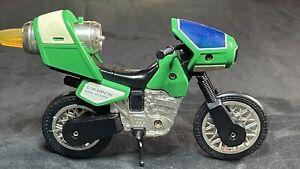 Vintage BANDAI Power Rangers ZEO JET CYCLE Gold Ranger Green Motorcycle 1996
