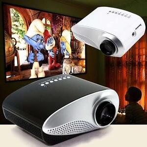 HD 1080P AV Multimedia HDMI Portable LED Projector Home Cinema For Smartphone TL