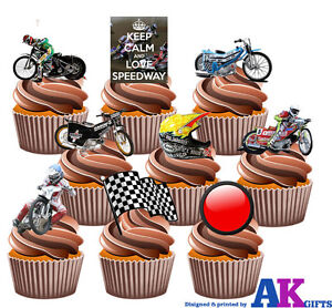 Image Is Loading Speedway Motorbike Party Pack 36 Edible Cup Cake