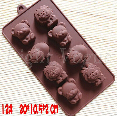 Chocolate Cake Cookie Muffin Jelly Baking Silicone Animals Mould Mold 0024