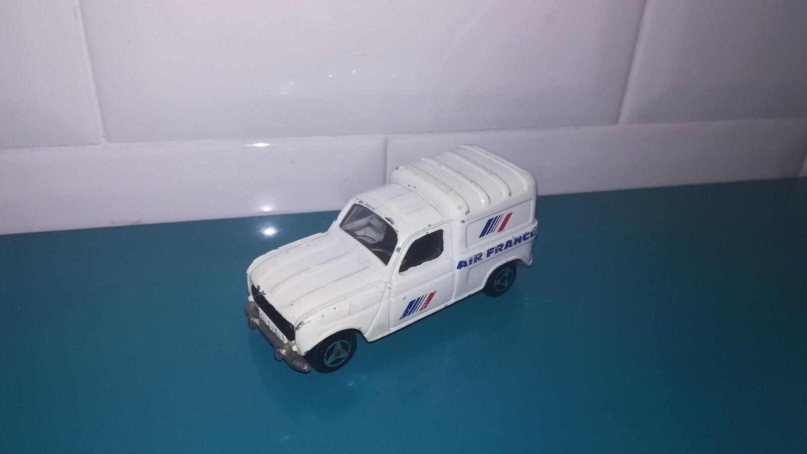 03.03.19.3 voiture miniature Majorette n°230  renault 4L Air France pub majopub  magasin vente sortie