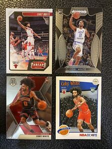2019-20 Coby White RC Lot Mosaic 211 Prizm 70 Threads 95 NBA Hoops 295
