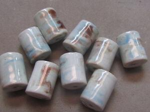 10 Marbled Multicolor 20x15mm Porcelain Beads (G247G15`)