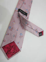 "Paul Smith Baby Pink Floral Classic Tie ""MAINLINE"" 100% Silk Made in Italy"