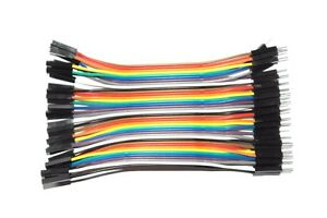 Dupont Jumper Cable Wire 15cm 10x 20x 40x Arduino PICAXE Raspberry PI Micro:Bit