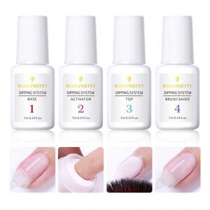 BORN-PRETTY-Dipping-Powder-System-Liquid-4-Steps-Kits-Nail-Art-Gel-No-UV-Needed