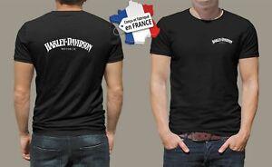 t-shirt personnalisé harley davidson jack moto biker motocycle vintage M011
