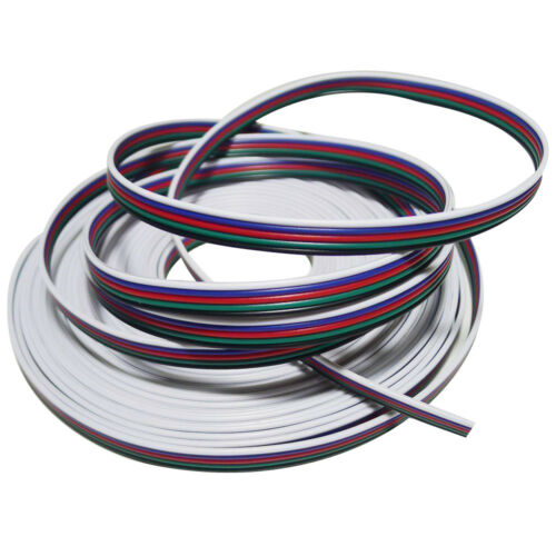 1-50m 2//4//5//6 Pin Extension Connector Wire Cable Cord For RGB CCT RGBW LED Strip