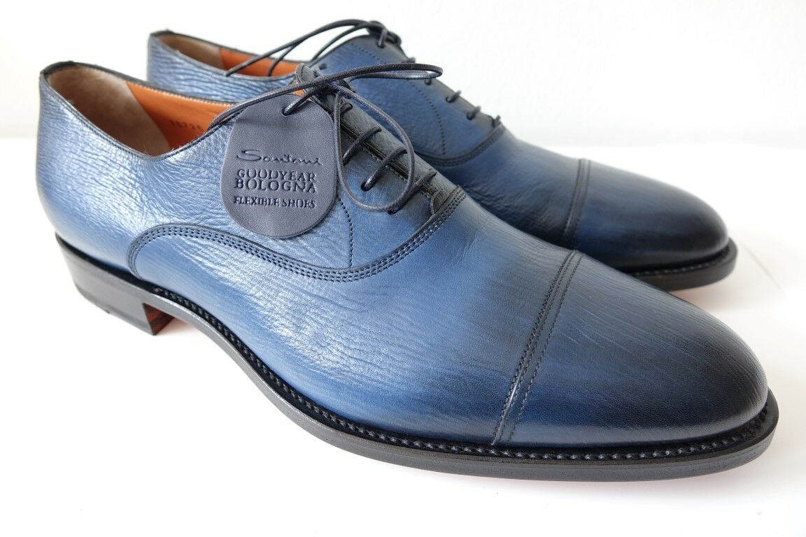 SANTONI Schuhe Herrenschuhe Businessschuhe - GR. 10 (44) - NEU ORIG. - SONDERMOD    | Eleganter Stil
