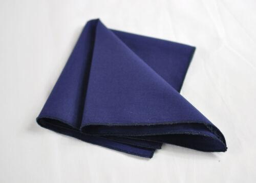 MENS Navy Blue Cotton Bow Tie POCKET SQUARE Hanky Handkerchief Wedding Party
