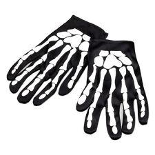 Halloween Skeleton Bone Fancy Dress Black Gloves