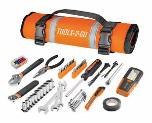 83-Piece-Tools-2-Go-Tool-Set-with-Roll-Up-Pouch-Motorcycle-Auto-ATV-240119