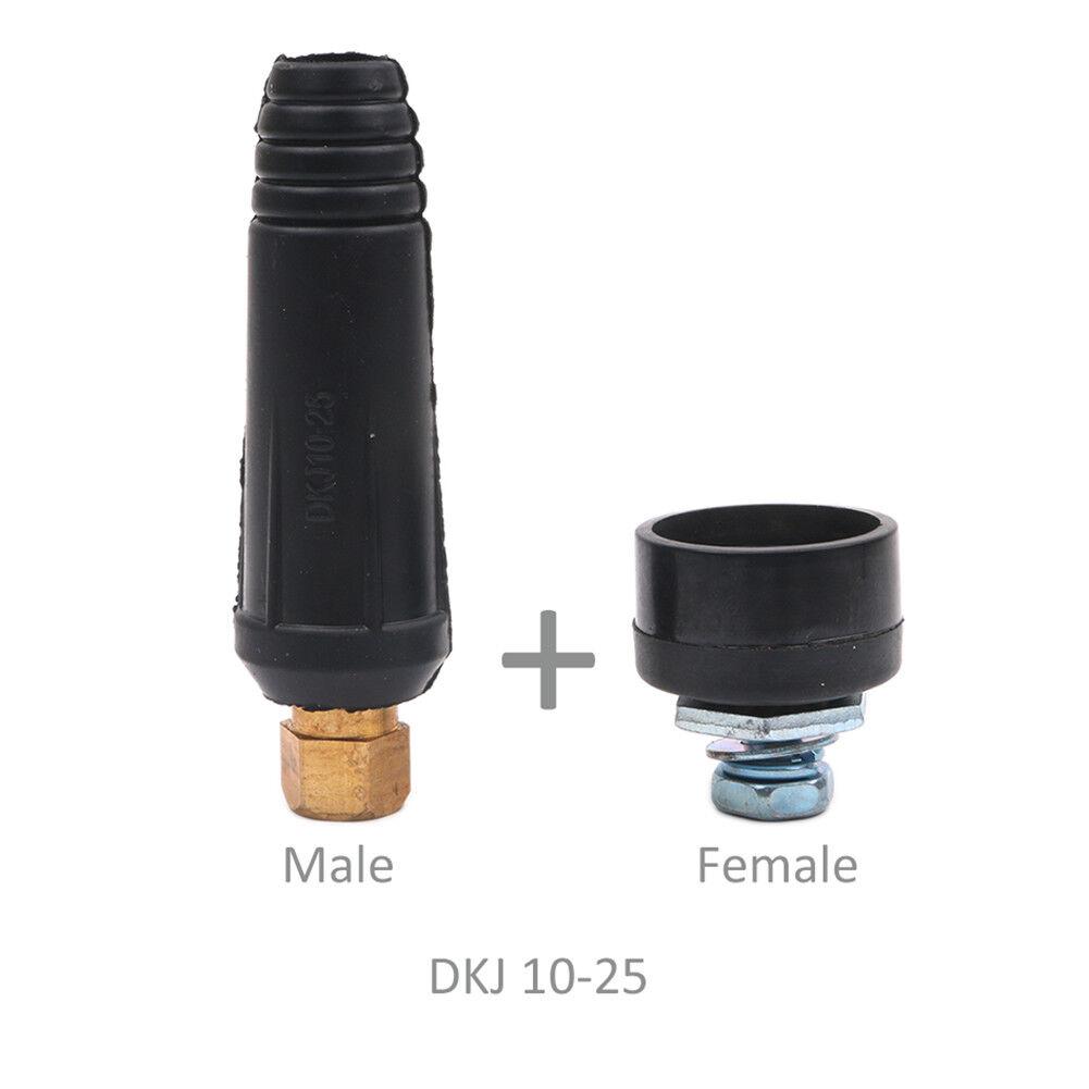 Socket Black DKJ10-25 /& DKZ10-25 One Set Welding Machine Cable connector-Plug