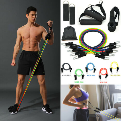 Fitness 11 PCS Resistance Bands Set Home Exercise Tube Bands Training