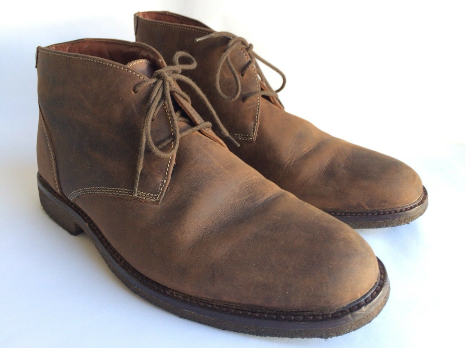 Johnston And Murphy Copeland Leather Chukka Ankle Boots Size 10.5 M 25-1870