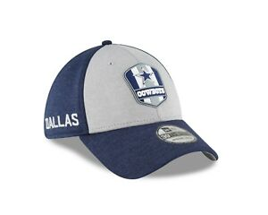 new arrival cffb8 0444f Image is loading Dallas-Cowboys-New-Era-Heather-Navy-2018-NFL-
