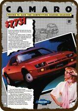 1986 CHEVY IROC-Z CAMARO Yellow Car /& BOSE DELCO Vintage Look REPLICA METAL SIGN