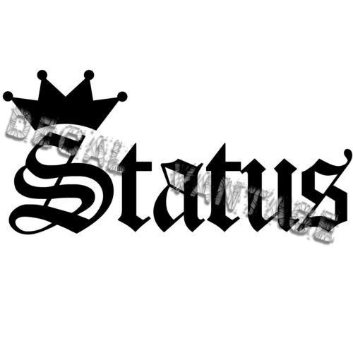 Choose Size /& Color Status Crown Vinyl Sticker Decal JDM Drift Race