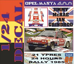 DECAL OPEL MANTA 400 JIMMY McRAE YPRES 24 R 05 1985 2nd