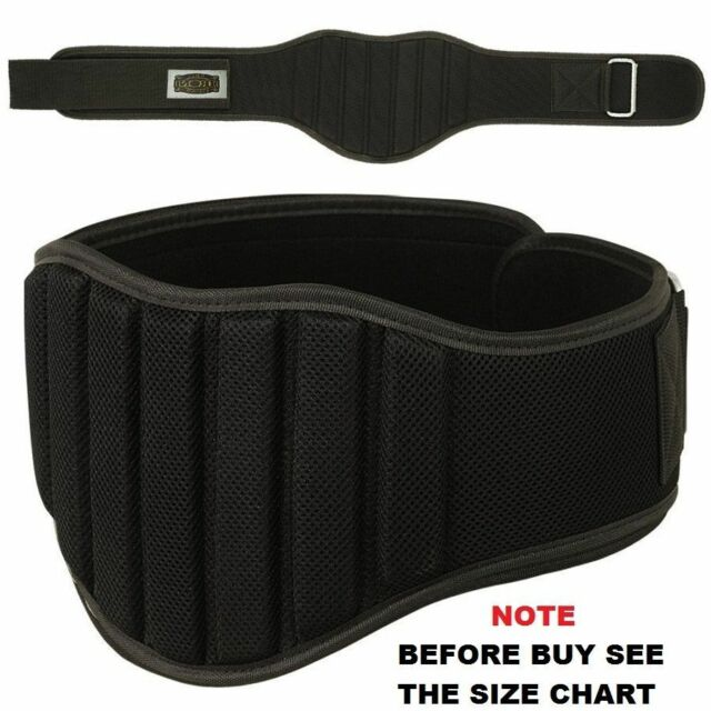 Weight Lifting Belt Gym Fitness 8 inch Wide Back Supports Neoprene BLUE L//XL