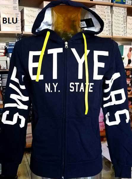 Männer Pullover Sweet Years mit Logo auf den Hülle mit Taschen und Kapuze Art