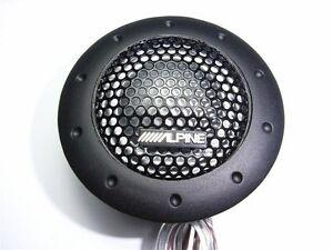 2x DDT-S30 Set Alpine Tweeters Tweeter Speaker 180W Crossover