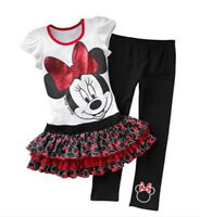 Disney Mickey Mouse & Friends Minnie Mouse Tunic And Leggings - Size 6 Girls