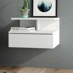 Wall Mounted Bedside Table Cabinet