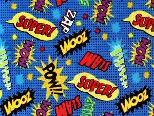 MARVEL-DC-COMICS-FABRIC-SUPERHERO-ACTION-WORDS-ZOOM-ZAP-POW-WHAMM-BY-THE-YARD